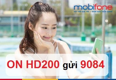 Tận hưởng ưu đãi khi đăng ký gói cước HD200 Mobifone