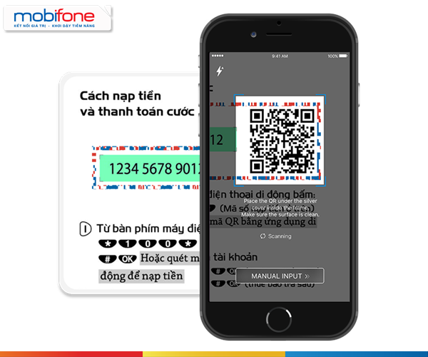 Hướng dẫn nạp tiền bằng QR Code qua ứng dụng Mobifone NEXT