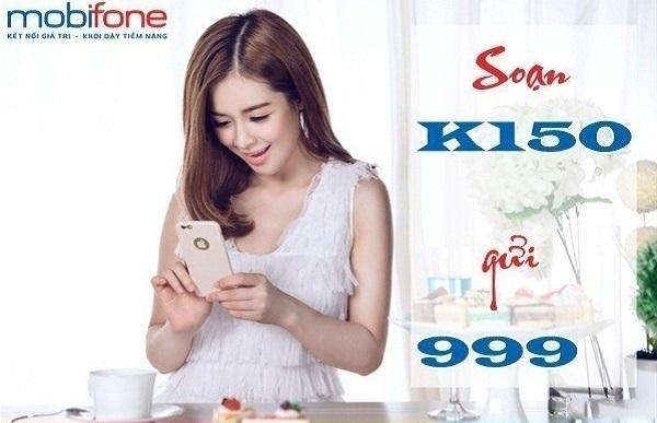 Gọi thoại giá ưu đãi khi đăng ký gói cước K150 Mobifone