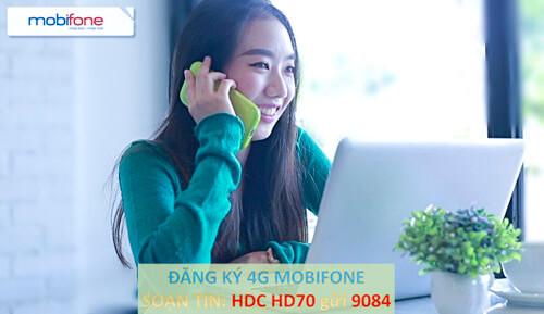 Cú pháp chính xác để đăng ký gói cước 4G HD70 Mobifone