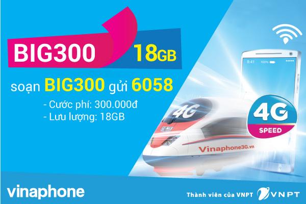 Ưu đãi hấp dẫn không thể bỏ qua khi đăng ký gói cước BIG300 Vinaphone