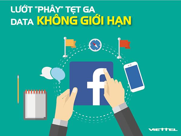 Lướt FB thả ga không lo hết tiền với gói cước Facebook của Viettel