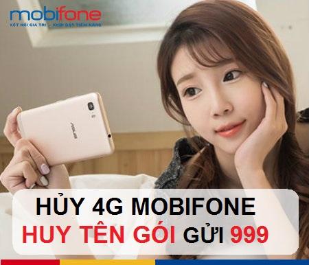 Hướng dẫn chi tiết cách hủy gói 4G mobifone đang dùng