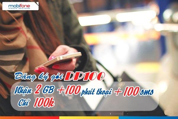 Đăng ký gói DP100 Mobifone nhận ưu đãi cực khủng