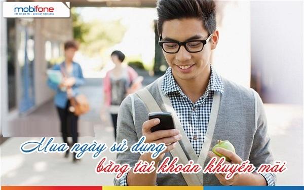 Hướng dẫn mua ngày sử dụng cho sim mobifone bằng tài khoản khuyến mại