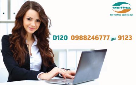Cách đăng ký nhanh gói cước D120 Viettel dùng cho Dcom