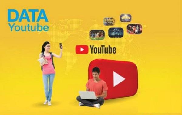 Xem youtobe không giới hạn với gói data Youtube Vinaphone