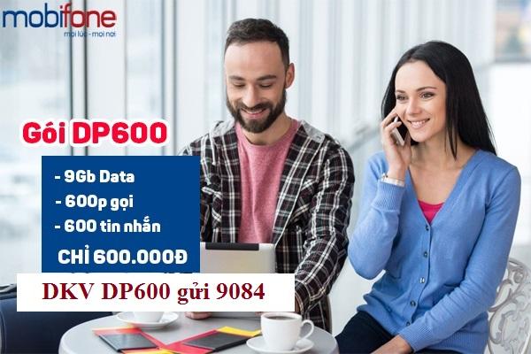 Đăng ký gói DP600 Mobifone ưu đãi tới 9GB