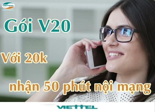 Hướng dẫn đăng ký gói cước V20 Viettel chỉ 20.000đ