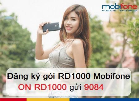 Hướng dẫn đăng ký nhanh gói cước 3G RD1000 Mobifone