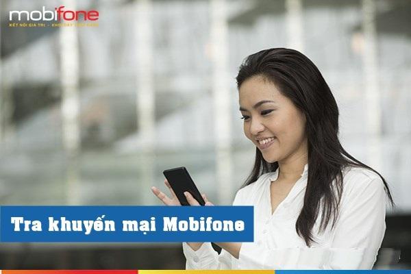 Tra cứu khuyến mại Mobifone qua thao tác * 090 #