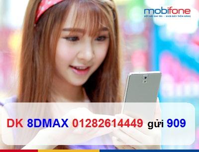 Tham gia gói cước 8Dmax Mobifone nhận 102GB data