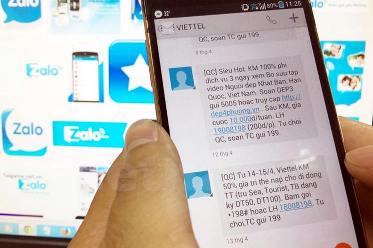 Không bị làm phiền với dịch vụ chặn tin nhắn rác của Viettel