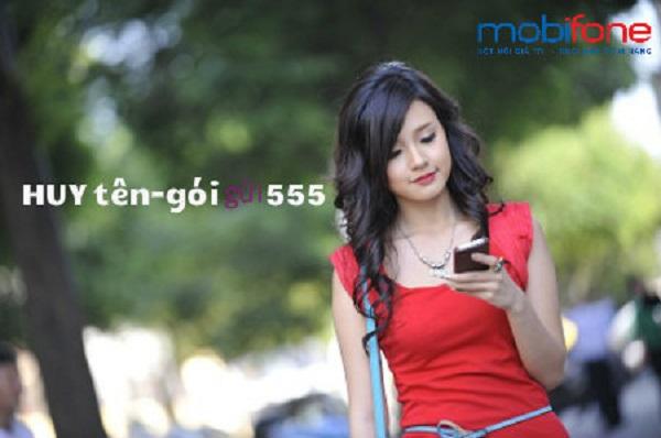 Hủy dịch vụ từ đầu số 555 của Mobifone