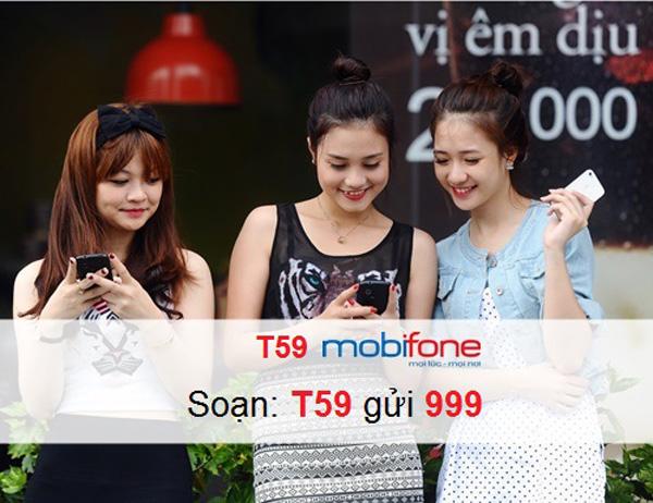 Ưu đãi gọi 1.000 phút gọi nội mạng khi đăng ký gói T59 Mobifone