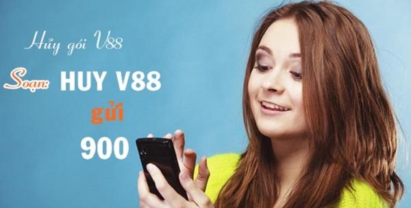 Hủy gói cước V88 cho sim Vinaphone qua đầu số 900