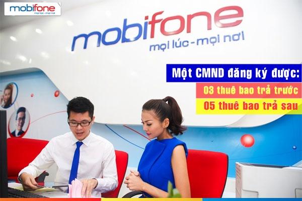 Một CMND có thể đăng kí bao nhiêu sim mobifone trả trước và trả sau?