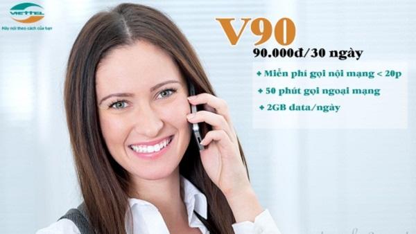 Cú pháp đăng ký gói cước V90 Viettel qua đầu số 9123