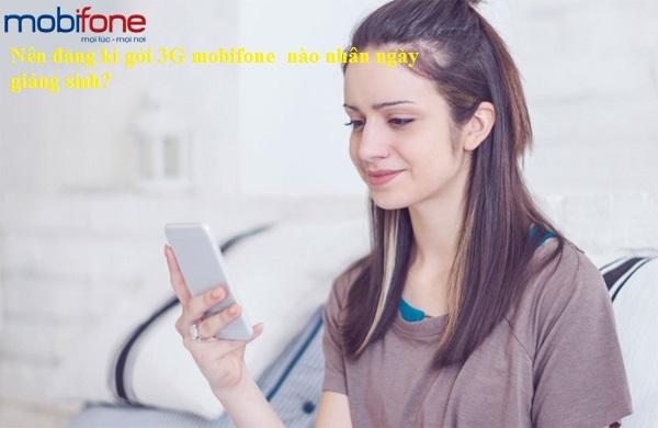 Nên đăng kí gói 3G mobifone nhân mùa giáng sinh