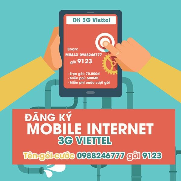 Đăng kí gói cước 3G/4G Viettel cho Ipad, máy tính bảng, Dcom 3G