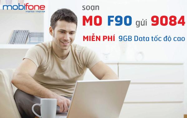 Ưu đãi hẳn 9GB data khi sử dụng gói cước 3G F90 Mobifone