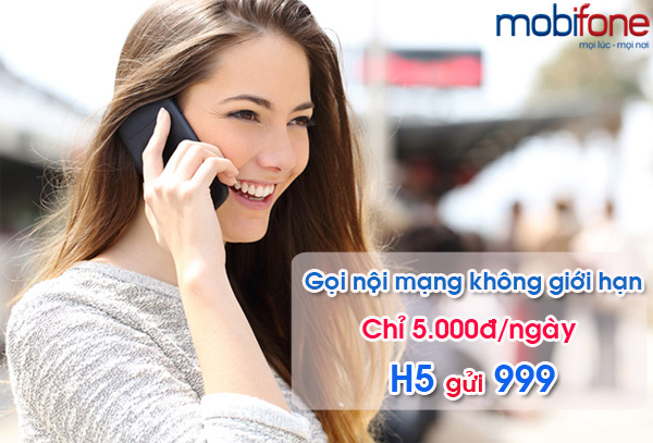 Đăng kí nhanh gói H5 mobifone nhận 2 ngày miễn phí cuối tuần