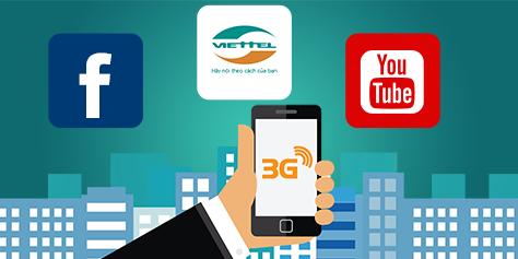 Đăng kí gói cước 3G Viettel
