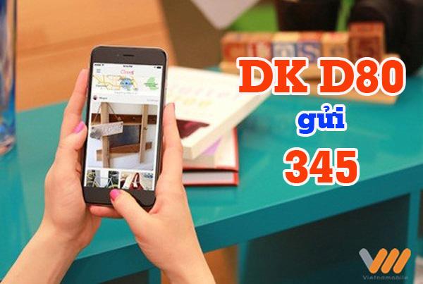 Tìm hiểu về những ưu đãi đến từ gói cước D80 của Vietnamobile