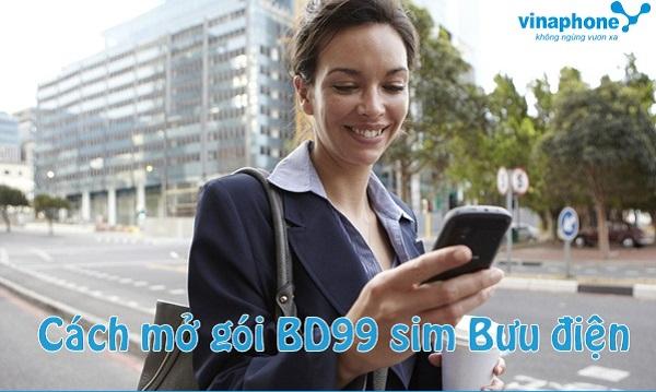 Cách nhận được ưu đãi từ gói BD99 trên sim Bưu Điện vinaphone