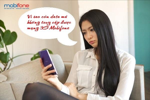 Lí giải tại sao còn data nhưng không thể truy cập 3G mobifone