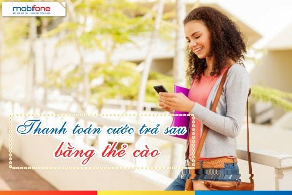 Cách thanh toán cước trả sau mobifone bằng thẻ cào