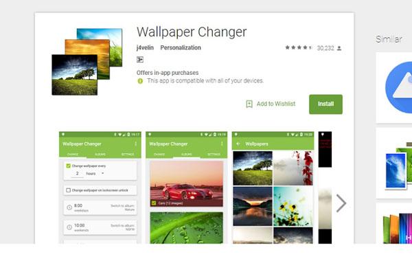 Cách đặt chế độ tự động đổi hình nền cho điện thoại Android