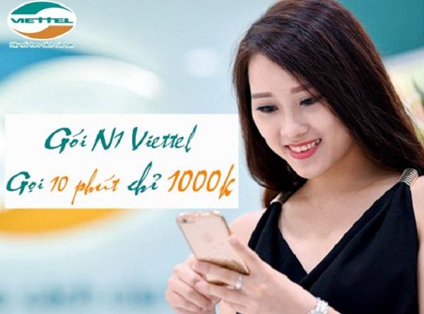 Cú pháp đăng ký gói cước N1 Viettel chỉ 1.000đ/ngày