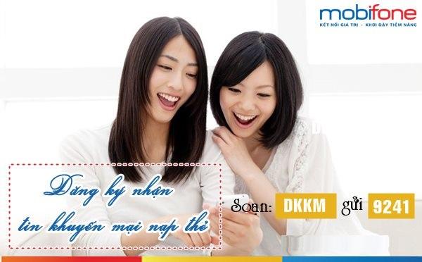 Cách nhận tin nhắn khuyến mãi nạp thẻ mobifone nhanh chóng