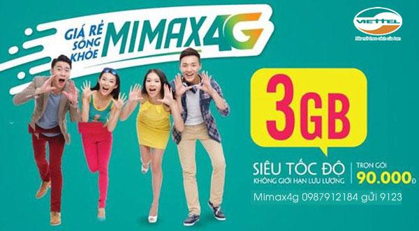 Đăng ký gói Mimax4G Viettel trọn gói ưu đãi mới giá không đổi