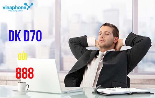 Hướng dẫn nhanh cách đăng kí gói D70 Vinaphone ưu đãi nhất