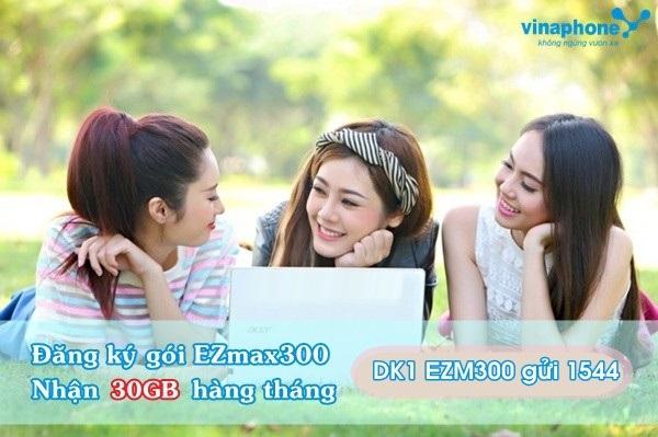 Hướng dẫn đăng kí gói Ezmax300 Vinaphone  cho thuê bao Ezcom