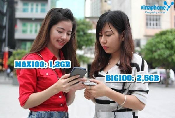 Cách đăng kí gói MAX100 Vinaphone với mức phí 100.000 đồng / tháng