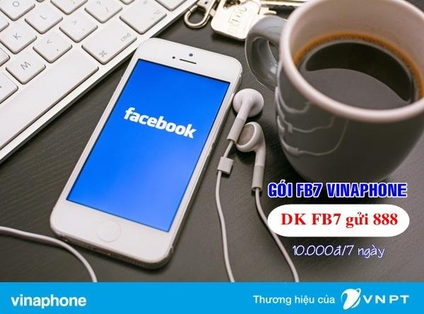 Đăng kí ngay gói FB7 Vinaphone ưu đãi nhất