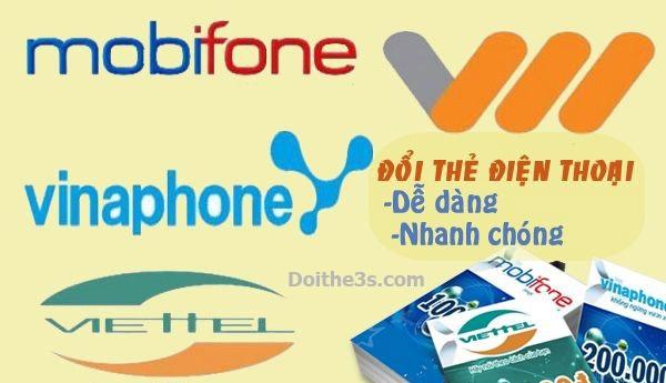 Hướng dẫn đổi thẻ cào Mobifone ra tiền mặt tại website Doithe3s.com