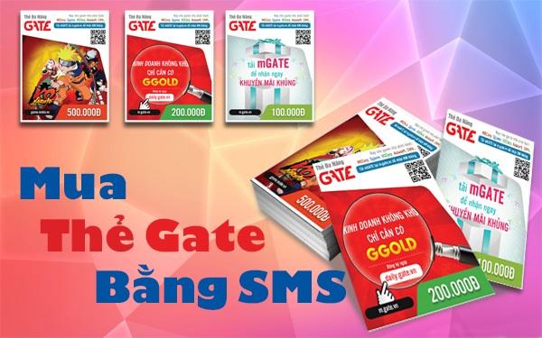 Hướng dẫn mua thẻ gate bằng sms Viettel