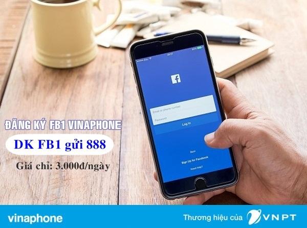 Đăng kí nhanh gói FB1 Vinaphone dùng trong 1 ngày