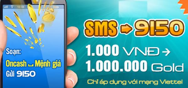 Hướng dẫn mua thẻ Oncash bằng SMS nhanh nhất