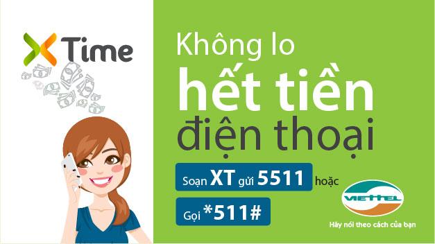Cách ứng tiền qua dịch vụ Xtime của Viettel nhanh chóng