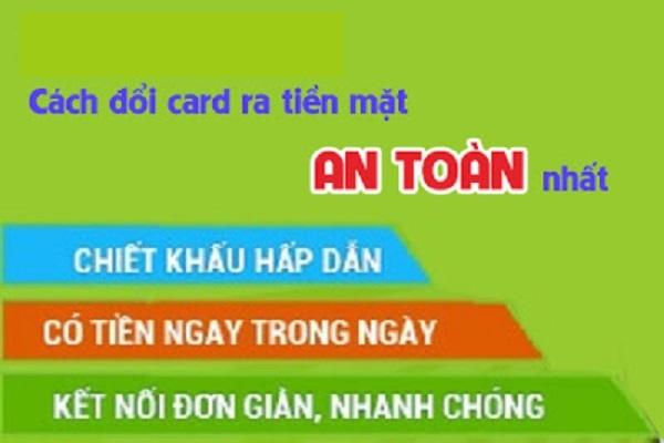 Bật mí cách đổi card ra tiền mặt đơn giản nhất