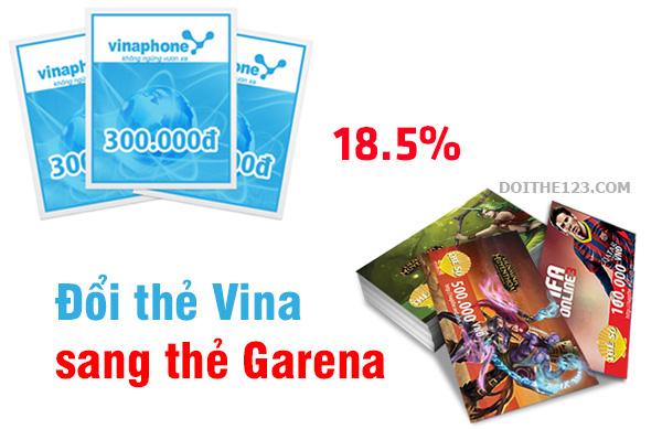 Kinh nghiệm đổi thẻ Vina sang thẻ Garena đơn giản, phí thấp