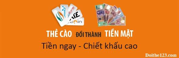 Mức phí đổi thẻ điện thoại ra tiền tại doithe123.com