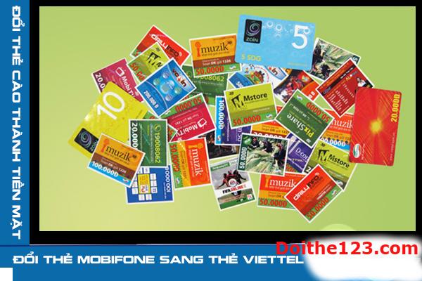 Hướng dẫn cách đổi thẻ cào mobifone sang thẻ viettel nhanh nhất