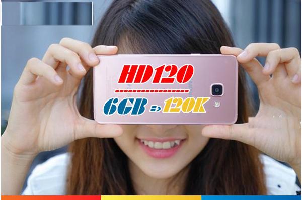 Lướt web siêu tốc cùng gói 4G HD120 Mobifone ưu đãi 6GB/tháng