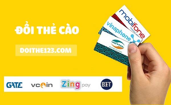 Hướng dẫn cách đổi thẻ cào ra tiền mặt  mức phí thấp nhất